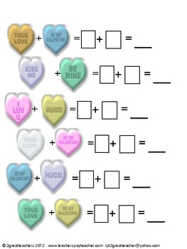 Valentines Conversation Heart Math