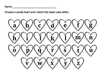 Valentine's Conversation Hearts Center FREEBIE
