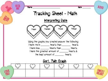 Valentines' Conversation Hearts Math & Literacy Fun