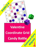 Valentines Coordinate Grid Candy Battle Game for Grades 2-8