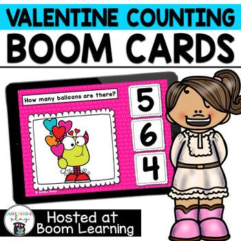 Valentines Counting 0-10  BOOM Cards for Preschool or Kindergarten