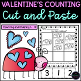 Valentine's Counting Cut and Paste Activities