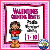 Valentines Day Math - Counting Numbers 1 - 10