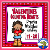 Valentines Day Math - Counting Numbers 11 - 20