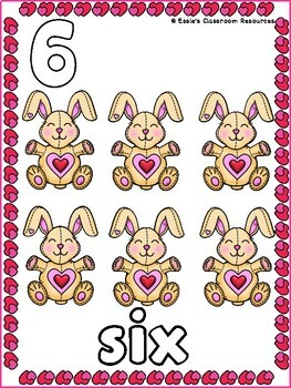 Valentines Counting and Number Puzzles (0-10)