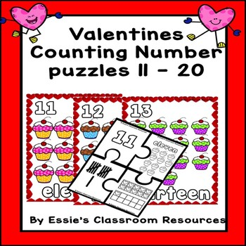 Valentines Counting and Number Puzzles (11-20)