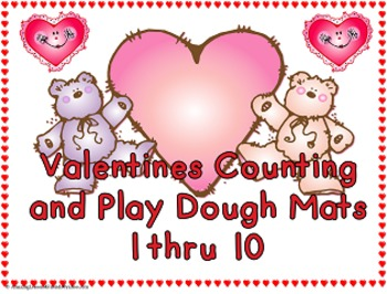 Valentines Counting and Play Dough Mats (Commom Core)