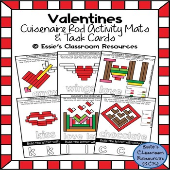 Valentines Cuisenaire Rods Activity Mats & Task Cards