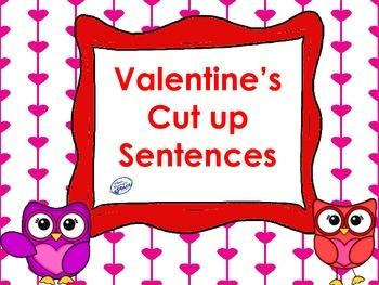 Valentine's Cut Up Sentences