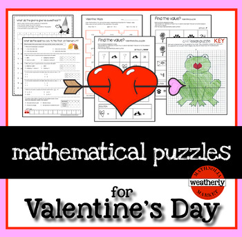 Valentines Day Puzzles for algebra