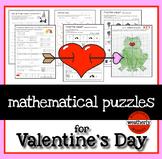 Valentines Day Puzzles for algebra