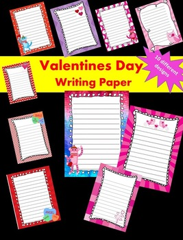 Valentine's Day Writing Papers - Personal & Commercial use