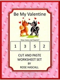 Valentine's Day Math & Literacy Unit Cut and Paste, Center