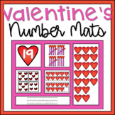 Valentines Day 1-20 Number Mats Math Center Activity