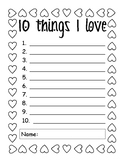 Valentines Day - 10 things I love