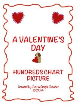 Valentine's Day 100 Chart Activity FREEBIE