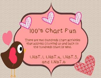 Valentine's Day 100's Chart Freebie