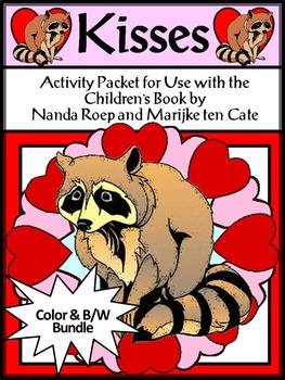 Valentine's Day Activities: Kisses Valentine's Day Activities Bundle - Color&BW