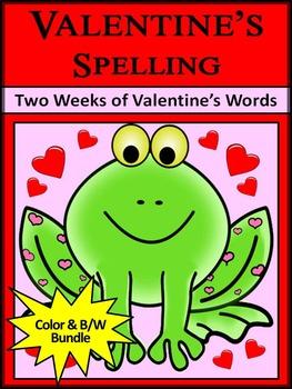 Valentine's Day Activities: Valentine's Spelling Activity Packet