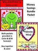 Valentine's Day Activities: Valentine's Spelling & Words Bundle - Color&BW