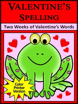 Valentine's Day Spelling Activities: Valentine's Spelling Activity Packet