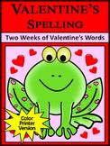 Valentine's Day Spelling Activities: Valentine's Spelling Activities - Color