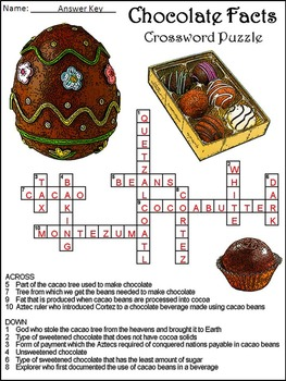Valentine's Day Reading Activities & Easter Reading Activities: Chocolate Facts