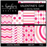 12x12 Digital Paper Set: Valentine's Day {A Hughes Design}