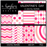 12x12 Digital Paper Set: Valentine's Day {A Hughes Design}