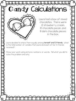 Valentine's Day Math 3rd Grade - Valentine's Day Activities Pack