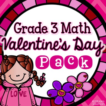 Valentine's Day Math - Valentine's Day Fractions, Multiplication, & More