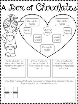 Valentine's Day Math 3rd Grade - Valentine's Day Multiplication & Grammar