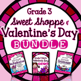Valentine's Day 3rd Grade - Valentine's Day Fractions, Multiplication, & Grammar
