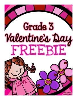 Valentine's Day - 3rd Grade Math & ELA FREEBIE