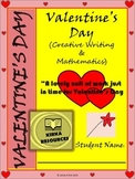 Valentine's Day Math and Valentine's Day Writing
