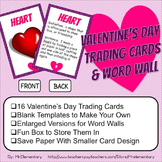 Valentine's Day Vocabulary Trading Cards and Word Wall