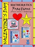 Valentine's Day - Math - Fractions Worksheets - Grade 4, Grade 5, and Grade 6,