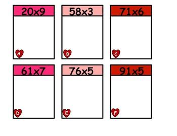 Valentines Day 2 Digit By 1 Digit Match
