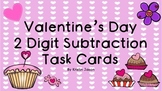 Valentine's Day 2 Digit Subtraction Task Cards