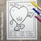 Color By Number St Valentine's Day Funky Valentine Addition