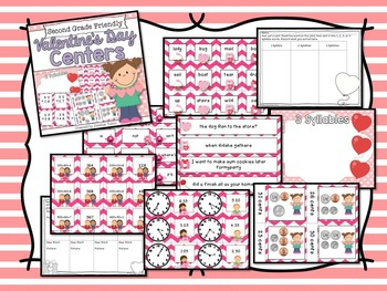 Valentine's Day Activities for 2nd Grade Bundle