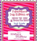 Valentine's Day 2nd Grade Math task cards Word Problems 2 Games Included
