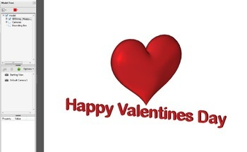 Valentines Day 3D Animated Heart Graphic for Whiteboards - FREE
