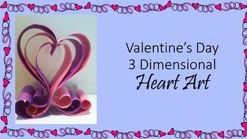 Valentine's Day 3-D Heart Art