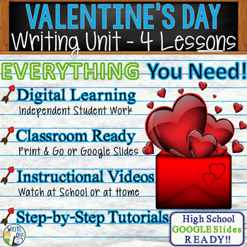 Valentine's Day Writing BUNDLE! - Argumentative Persuasive Expository Narrative