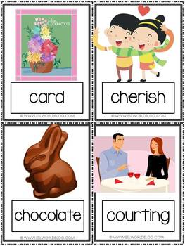 Valentine's Day {44 Flashcards & Games} ESL Adults & Grades 4-6