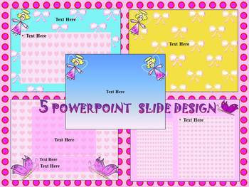 Spring Activities -  5 Editable PowerPoint slide design