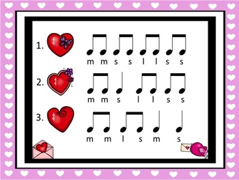 Valentine's Day - A Listening Game to Practice So, Mi and La