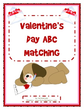 Valentine's Day ABC Matching - Uppercase and Lowercase
