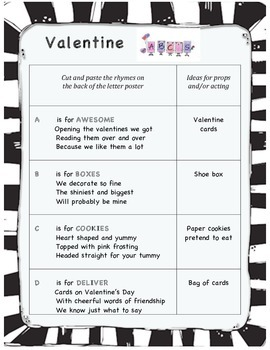 Valentine's Day ABC play for early readers